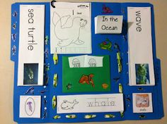 Ocean Lapbook   with links to free printables  from www.rockabyebutterfly.com