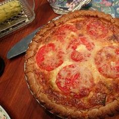Leek and Cheese Quiche: I added bacon; used a swiss/gruyere shredded blend from TJ's; and I left out the pecorino. Served it with a salad dressed with oil and vinegar. DELISH. (Abby)