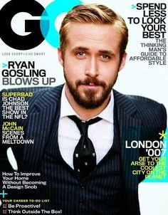 Ryan Gosling is GQ's cover boy this month to promote his new movie Lars and the Real Girl (more on that later). In the interview he made us love him even Ryan Gosling, Web Design, Layout Design, Graphic Design, Cover Boy, Superbad, Gq Magazine, Magazine Covers, Best Mens Fashion