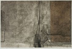 takahikohayashi:    85-存-185-existence-165x98cm copperplate print with chine collé( etching) 林孝彦 HAYASHI Takahiko 1985