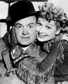 Bob Hope and Lucille Ball photographed for Fancy Pants, 1950