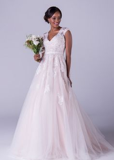 Oleg Cassini wedding dress, Champagne and ivory two tone lace dress with a plunging v-neck line. The gorgeous cap sleeve rounds off this dress beautifully. Bridal Collection, Dress Collection, Ball Dresses, Ball Gowns, Bridal Undergarments, Bridal Bolero, Bridal Headpieces, Lace Dress, Bridesmaid
