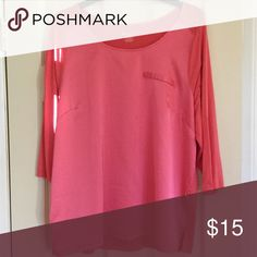 Shirt Silk like front, faux pocket. Soft and comfortable Lane Bryant Tops Blouses