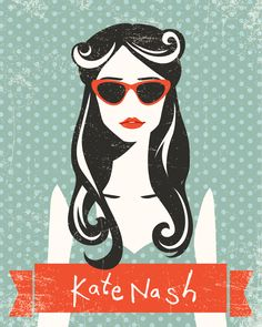 Kate Nash Poster by Corina Rosca http://www.behance.net/gallery/Kate-Nash-Poster/10595387