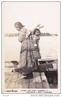RP: Indian Woman & Child , Lake-of-the-Woods , KENORA , Ontario , Canada , 20-40s Item number: 216100374 - Delcampe.com
