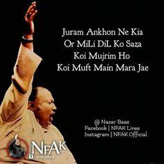 Nfak Quotes, Mood Quotes, Qoutes, Nusrat Fateh Ali Khan, Nfak Lines, Heart Touching Lines, Gulzar Quotes, Love Poetry Urdu, Heartbroken Quotes