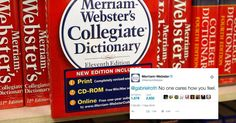 Merriam-Webster, a dictionary, mercilessly roasted a Twitter critic