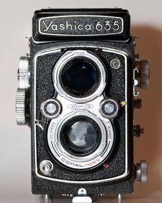 *Yashica 635 takes 6 x 6 and 35 mm film