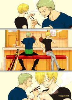 Art fan gay having sanji sex zoro