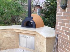 Check out this gorgeous Alfresco Wood Fired Pizza Ovens installed onto customers built base, absolutely stunning http://www.sydneyheaters.com.au/
