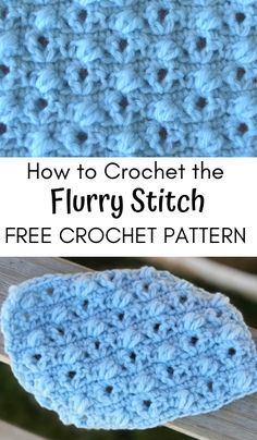 Free crochet stitch pattern for the Flurry Stitch! Learn how to crochet this bobble stitch pattern. Crochet Stitches Patterns, Crochet Patterns For Beginners, Knitting Stitches, Crochet Designs, Baby Patterns, Stitch Patterns, Crochet Waffle Stitch, Bobble Stitch, Single Crochet Stitch