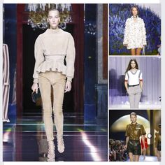 A Few Looks From Paris Fashion Week  #TelaModa #WearableArt #Art