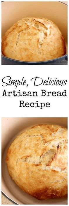 very simple, Artisan bread recipe.A very simple, Artisan bread recipe. Artisan Bread Recipes, Bread Machine Recipes, Easy Bread Recipes, Baking Recipes, Cornbread Recipes, Jiffy Cornbread, Chef Recipes, Artisan Food, Soup Recipes