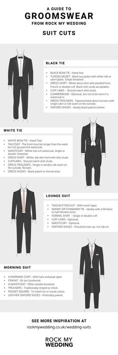 WEDDING SUITS - A GUIDE BEFORE YOU SHOP | Rock My Wedding | Wedding Suit | Groom Suit | Wedding Outfit | Groom Outfit | Groomsmen Suits | Groosmen Outfits | Wedding Preparations | Wedding Planning | Wedding Inspiration | Suit Guide | Wedding Suit Fits | Suit Cuts for Wedding | Wedding Suit Styles, Black Suit Wedding, Wedding Suits, Wedding Attire, Groom Suit Trends, Black Tie Suit, Rock Style Men, Morning Suits, Groom Style