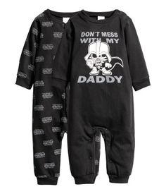 H&M baby Star Wars Darth Vader pyjama - Don't Mess with My Daddy