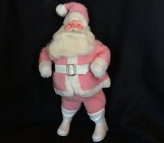 Vintage Christmas Harold Gale Pink Santa Claus by MissMelaniesMisc