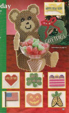 """19/"""" Teddy Bear Buddy  plastic canvas pattern"""