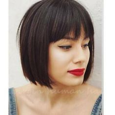 Bobbed Hairstyles With Fringe, Bob Haircut With Bangs, Choppy Bob Hairstyles, Short Hair With Bangs, Short Hair Cuts, Short Hair Styles, Haircut Style, Bob Haircuts, Short Bob Bangs