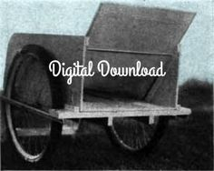 What a sweet idea to make. Garden+Cart+Utility+Cart+Yard+Cart+Nursery+Cart+Vintage