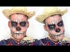 ▶ Zombie Scarecrow Halloween Makeup Tutorial - YouTube