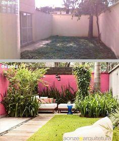 Antes e depois paisagismo