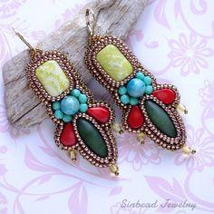 #earrings with lemon #jade #corall and #nephritis  #серьги с лимонным жадеитом, окрашенным кораллом и нефритом #sinbead #sinbeadjewelry #jew...