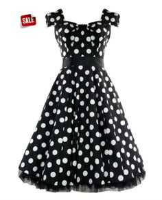 Beautiful Hearts & Roses London black and white big polka dot $41