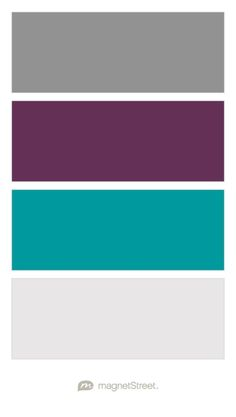Classic Gray, Eggplant, Teal, and Winter White Wedding Color Palette - custom color palette created at MagnetStreet.com