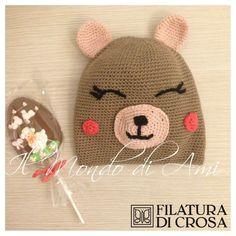 Berretto orsetto, realizzato con il filato EXCELLENT (Filatura di Crosa)