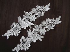 ivory lace applique bridal applique white lace by emmacrystal