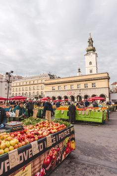 Dolac Market in Zagreb, Croatia. Looking for Zagreb travel tips? Check out my guide to 24 hours in Zagreb! one day in Zagreb | visit Zagreb | visit Croatia | Zagreb travel tips | Europe budget travel | Europe solo travel | Zagreb hostel | Zagreb cheap accommodation | things to do in Zagreb | #Zagreb | #travel | #Croatia