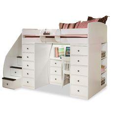 Found it at Wayfair - Sierra Twin Space Saver Loft Bed with Desk & Storage