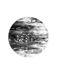 6 x 6 black and white modern art galaxy print abstract by HAYNEUE www.hayneue.etsy.com
