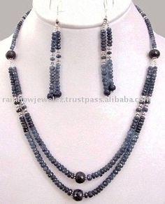 Stunning Designer 2 Strand Blue Sapphire Necklace, View Loose Blue Sapphire Necklace, Product Details from BELLO JEWELS PVT LTD on Alibaba.com