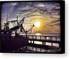Sunset At Snoopy's Canvas Print by Debra Martz.  All canvas prints are professionally printed, assembled, and shipped within 3 - 4 business days and delivered ready-to-hang on your wall. Choose from multiple print sizes, border colors, and canvas materials.