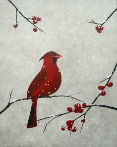 Cardinal-Snow Large
