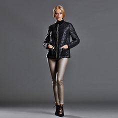 Taş Biyeli Chanel Şişme Ceket