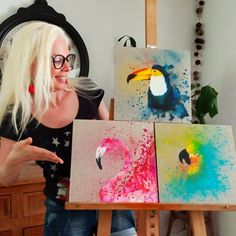 I Dont Know Anymore, Do You Like It, Presents, Facebook, Painting, Triptych, Gifts, Painting Art, Paintings