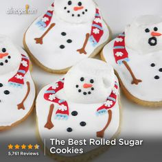 """The Best Rolled Sugar Cookies   """"These cookies are my go-to for rolled out sugar cookie. I've never had a bad batch--and I've make this at least 6 times a year. This recipe produces a buttery, crisp cookie that is not overly sweet--perfect for decorating with icing or sugar."""""""