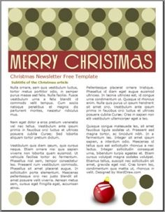 Ms Word Christmas Newsletter Template Candy Cane Design At