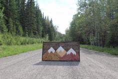 Mountain art created by a mountain man. Mountain Art, Three Sisters, Mountains, Design, Design Comics, Bergen