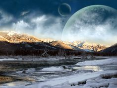 free screensavers and wallpapers for laptops   Free Moon Mountains Laptop Wallpaper Wallpaper