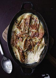 Finocchio al Forno (Fennel Baked in Cream)FROM Chef Gabrielle Hamilton of Prune restaurant in New York City IN Saveur Vegetable Side Dishes, Vegetable Recipes, Vegetarian Recipes, Cooking Recipes, Oven Recipes, Easy Recipes, Recipies, Healthy Recipes, Al Forno Recipe
