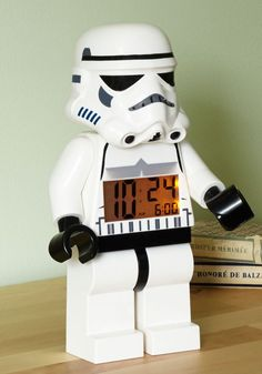 Coming soon to Modcloth is this Take It by Storm Alarm Clock - surely a must-buy for all Star Wars fans. Fashioned in the shape of the Star Wars Lego Stormtrooper, Star Wars Bedroom, Gaspard, Christmas Gifts For Men, Blog Deco, Lego Star Wars, Star Trek, Boy Room, Home Gifts