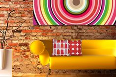 70's design living room with lots of bright colour - such a wonderful change from black and white. JH