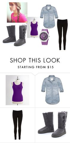 """""""cozyyy"""" by marygalligan ❤ liked on Polyvore featuring Lord & Taylor, Abercrombie & Fitch, Oasis, UGG Australia and Ed Hardy"""