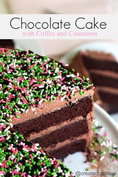 Chocolate Cake with Coffee and Cinnamon @createdbydiane