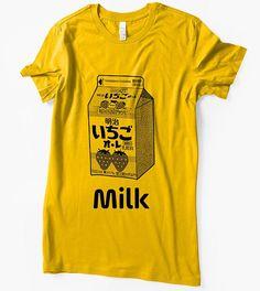 Strawberry Milk Shirt Milk Carton Japanese Ichigo cute kawaii