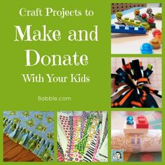 Make & donate crafts with kids