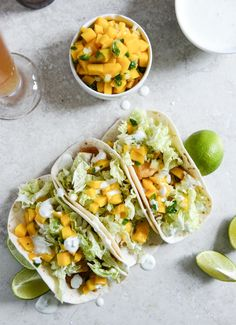 Beer Battered Fish with Margarita Mango Salsa? Yes, please!